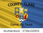 flag of county clare is a... | Shutterstock . vector #1736132051