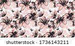 elegant french style hand drawn ... | Shutterstock .eps vector #1736143211