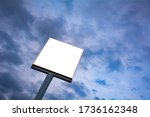 blank billboard with sky and... | Shutterstock . vector #1736162348