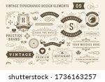 vintage typographic design... | Shutterstock .eps vector #1736163257