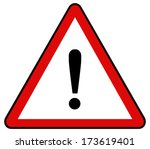 rounded triangle shape hazard... | Shutterstock .eps vector #173619401