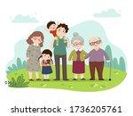 vector illustration cartoon of... | Shutterstock .eps vector #1736205761