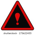 rounded triangle shape hazard... | Shutterstock . vector #173622455