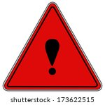 rounded triangle shape hazard... | Shutterstock . vector #173622515