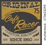 cafe racer   vintage motorcycle ... | Shutterstock .eps vector #173623295