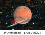 planet mars. solar system.... | Shutterstock . vector #1736240327