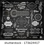 vector set of calligraphic... | Shutterstock .eps vector #173624417