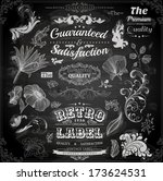 vector set of calligraphic... | Shutterstock .eps vector #173624531