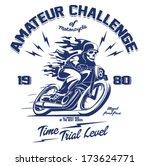 vector old school race poster. | Shutterstock .eps vector #173624771