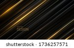black and golden sliced surface.... | Shutterstock .eps vector #1736257571