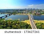 warsaw   bird's eye view. | Shutterstock . vector #173627261