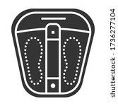 foot bath black glyph icon....