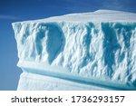 close up of an edge of an iceberg. Eqip Sermia, Greenland.