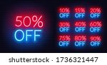 neon discount template. bright... | Shutterstock .eps vector #1736321447