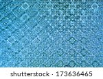texture of stain glass door | Shutterstock . vector #173636465