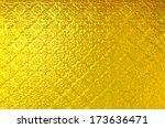 texture of stain glass door | Shutterstock . vector #173636471