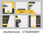 editable template post for...   Shutterstock .eps vector #1736404007