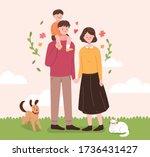 family month concept... | Shutterstock .eps vector #1736431427
