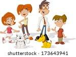 colorful cute happy cartoon...   Shutterstock .eps vector #173643941