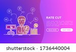 rate cut web page template with ...   Shutterstock .eps vector #1736440004