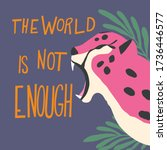 cute exotic wild big cat pink... | Shutterstock .eps vector #1736446577