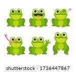 Cute Cartoon Frog Set ...