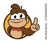 Cartoon Monkey Bizz Mascot Logo