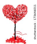 love tree. valentines day... | Shutterstock .eps vector #173646011