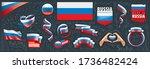 vector set of the national flag ...   Shutterstock .eps vector #1736482424
