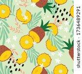 fruit seamless pattern ... | Shutterstock .eps vector #1736489291
