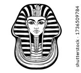 king tutankhamun mask  ancient... | Shutterstock .eps vector #1736509784