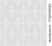 seamless geometric pattern.... | Shutterstock .eps vector #1736539481