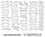 ribbon elements.  vintage.... | Shutterstock .eps vector #1736555114