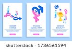 set of vector posters on the... | Shutterstock .eps vector #1736561594