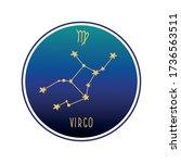 virgo. zodiac constellation... | Shutterstock .eps vector #1736563511
