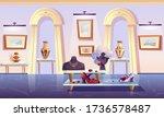 museum installation  luxury... | Shutterstock .eps vector #1736578487