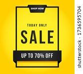 vector illustration of a sale... | Shutterstock .eps vector #1736595704