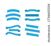 banner scroll set various vector | Shutterstock .eps vector #1736605334