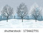 Vector Illustration  Winter...