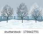 Vector Illustration  Winter...