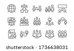 meeting line icons set. people  ... | Shutterstock .eps vector #1736638031