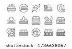 mattress line icons set. memory ... | Shutterstock .eps vector #1736638067