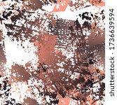 hand drawn grunge surface.... | Shutterstock .eps vector #1736639594
