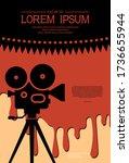cinema background for a horror... | Shutterstock .eps vector #1736655944