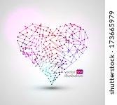 geometric vector heart. | Shutterstock .eps vector #173665979