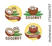 coconut oil logo. organic...   Shutterstock .eps vector #1736664707