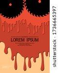 template for festival horror... | Shutterstock .eps vector #1736665397