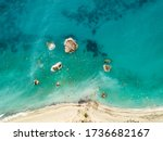 Aerial View From Drone Of The...
