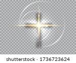cross of light  shiny cross...   Shutterstock .eps vector #1736723624