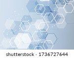hexagonal abstract background.... | Shutterstock . vector #1736727644